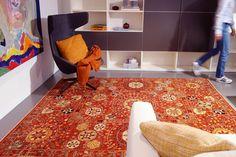 """Eleganter Orientteppich """"Nazara Suzani Bouquet Rouge"""" in modernem Look» Mischioff.de"""