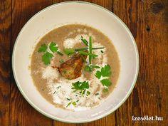 Gombakrémleves gombaropogóssal - Receptek   Ízes Élet - Gasztronómia a mindennapokra Thai Red Curry, Soup, Ethnic Recipes, Soups
