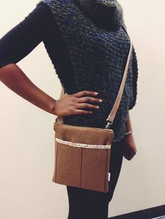 Nina Taylor Mocha Crossbody Messenger Bella Bag