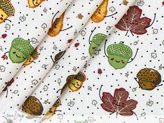 Diese lustigen Blätter haben ganz viel gute Laune im Gepäck! Tanzend fallen sie von den Bäumen und machen Lust auf einen Spaziergang durch den Wald.  Baumwollstoffe sind sowohl in der Inneneinrichtung als auch aus der...