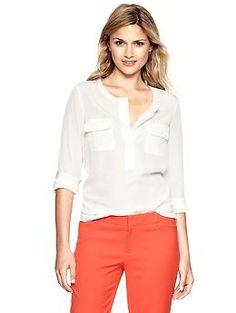 Pocket popover shirt | Gap - $54.95