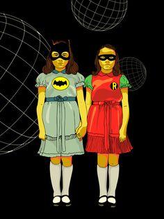 Batman y robin (serigrafía) - Elian Tuya
