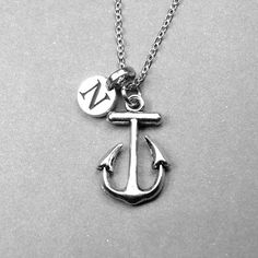 Anchor Necklace Nautical Jewelry Anchor by chrysdesignsjewelry
