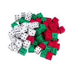 """AmazonSmile: ETA hand2mind Manipulite 3 Color Dot Dice, 5/8"""", Set of 72: Industrial & Scientific Educational Christmas Gifts, Educational Toys, Plane Shapes, 6 Sided Dice, Types Of Angles, Base Ten Blocks, Math Tools, Math Manipulatives, Gifted Education"""