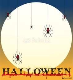 Vektor: halloween poster