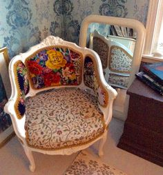 Old chair old stitchery new funiture Old Chair, Summer House, Decor, Inspiration, Chair, Home, Accent Chairs, Home Decor, Funiture