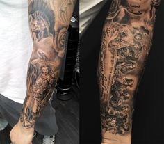 Chronic ink Tattoos, Toronto Tattoo - Last supper, and religious icons on 1 sleeve, by Joe.