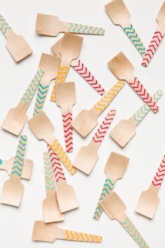 20 Wooden Taster Shovels  Great For Samples Or Ice by SucreShop, $8.00