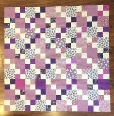 Patchwork-quilt-top-purple-amp-white-40-x-40-inches