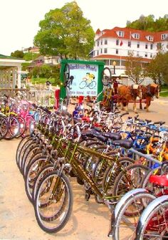 Rent a bike and cruise around Mackinac Island. I love these guys at Mackinac Wheels. Great bikes and great customer service.