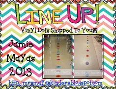 Thank you for looking at my Line Up Vinyl Dots {Line Leader/Door Holder} Set. This listing is for 1 door holder and 1 line leader vinyl dot (your choice of color). Orders may take up to a week to process and then ship time so your estimated time of delivery will be 2 to 3 weeks after