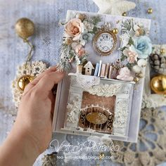 Over a cup of tea: Video MK Christmas card with a fireplace / Video tutorial Christmas Card Christmas Tag, Handmade Christmas, Christmas Crafts, Christmas Decorations, 3d Cards, Paper Cards, Xmas Cards, Shabby Chic Cards, Fancy Fold Cards
