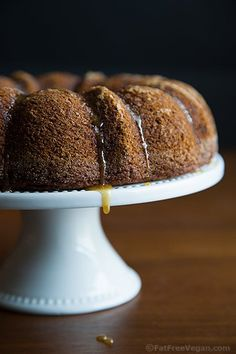 Applesauce Ginger Cake with Maple Glaze: You won't believe it's oil-free and vegan!