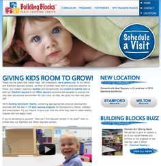 Creating a look for a growing CT daycare is important. Building Blocks Early Learning Center engaged us to create their website and support materials. Learning Centers, Early Learning, Room To Grow, Brand Building, Curriculum, Kids Room, Therapy, Hands, Website