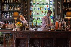 Drink up: The bar at the Pig in Brockenhurst, where cocktails include the berry-infused vodka drink The Long Forest Ramble The Pig Hotel, News Cafe, Pub Bar, Bar Grill, New Forest, Restaurant Design, Infused Vodka, Coach House, Man Cave