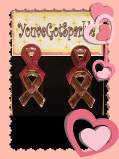 Light Pink - Dark Pink - Breast - Cancer - Awareness - Stud - Earrings - Women by YouveGotSparkle on Etsy