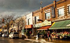Shops in Bloor West Village, Toronto West Village, Toronto Neighbourhoods, Canadian Travel, Historic Architecture, Landscape Photos, Gta, Niagara Falls, Ontario, The Neighbourhood