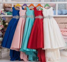 Flower Girl Dress, 2018 Pretty Red Royal Blue