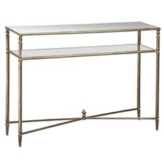 $500 Gold Henzler Console Table Uttermost Console/Sofa Tables Accent Tables Living Room Furnitu