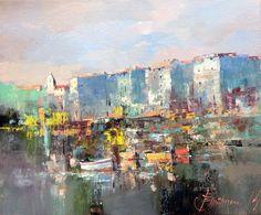 Branko Dimitrijevic, Boats, Oil on canvas, 30x25cm