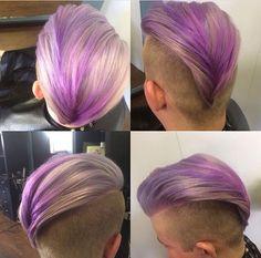 Purple ombré undercut