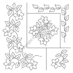 Quilting Stencils > Wholecloth & Theme Sets - Item: Various Sized Daffodils on QuiltingCreations.com