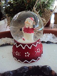 """Miniature """"Santa Snowman Snow Globe"""" Assorted -- More info could be found at the image url."""