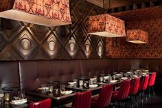 The General Restaurant - New York: love the feature wall!