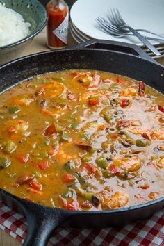 Shrimp Etouffee  Maybe over riced cauliflower and find a way around the flour and I just might be able to make this low carb.