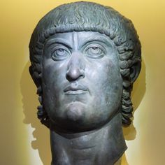 It could be a bust of Sylvester Stallone, but in fact it's bust of Emperor Constantine the Great. This very striking sculpture was on display at the Colosseum in Rome.