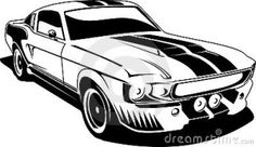 Black and white ford mustang. A black and white, vinyl ready ilustration of a cl , Mustang Fastback, Mustang Cars, Ford Mustang, Arte Lowrider, Car Silhouette, Free Clipart Images, Stencil Art, Horse Stencil, Car Drawings