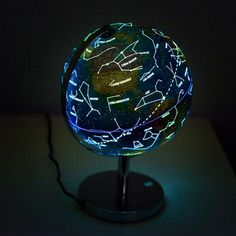 Illuminated world globe 3 in 1 educational toy rotating globe illuminated world globe educational toy rotating globe globes of the world classic design at day built in led glowing star constellation map nightlight gumiabroncs Choice Image