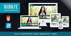 Viduze is a premium responsive Video Magazine HTML template designed for video related sites but it can also be used to creatively showcase your portfolio. Theme is created by using Twitter Boot...