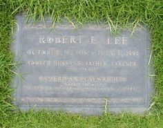 """Robert Edwin Lee - American Playwright, Author. Emmy and Tony Award-nominated writer of """"Inherit the Wind,"""" co-authored with long-time writing partner Jerome Lawrence. Together they wrote 39 plays and 14 Broadway productions. During World War II, Lawrence and Lee co-founded the Armed Forces Radio Services, which provided entertainment and news to troops both overseas and stateside."""
