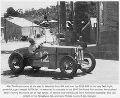 Alan Tomlinson, MG TA Spl. Winner 1939 Australian Grand Prix , Lobethal , South Australia