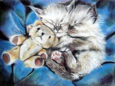 Night, Night, Sleep Tight. by astarvinartist.deviantart.com Night Night Sleep Tight, Diviant Art, Knight Art, Animal Drawings, Drawing Animals, Cat Drawing, Oeuvre D'art, Rock Art, Cat Art