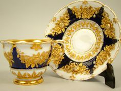 Biedermeier period Meissen porcelain cup and saucer set