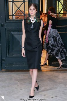 Vassilis Zoulias SS17 catwalk Aw 2017, Dresses For Work, Formal Dresses, Catwalk, Peplum Dress, Stylish, Collection, Black, Woman