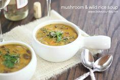 Mushroom & Wild Rice Soup | www.bakeyourday.net