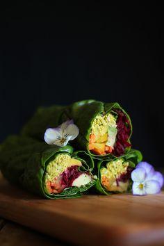 Berry Chia Parfait, Garden Gazpacho, Summer Rolls with Sunflower Seed Pate - 15 Rich-Flavored Summer Rolls Raw Vegan Recipes, Vegan Foods, Vegetarian Recipes, Healthy Recipes, Whole Food Recipes, Cooking Recipes, Herb Recipes, Vegan Wraps, Summer Rolls