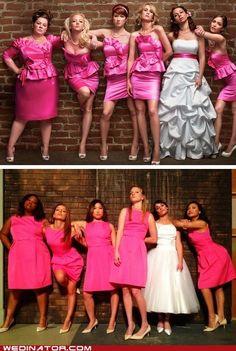 Bridesmaids wedding pose