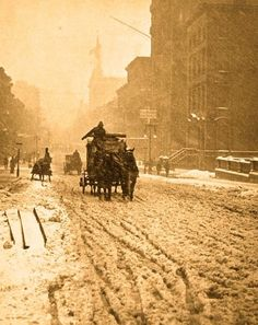 Winter on Fifth Avenue, New York City, photographed by Alfred Stieglitz, 1893: