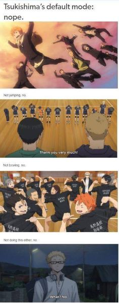 The nope is big with this one | Haikyuu