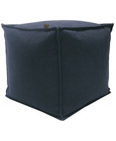 Overseas - Canvas Hocker - Blauw