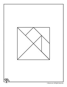 Tangram puzzles - Color Your Own Printable Tangram Puzzle Pieces – Tangram puzzles Mazes For Kids, Printable Activities For Kids, Preschool Activities At Home, Color Activities, Tangram Printable, Tangram Puzzles, Animal Puzzle, Fun Math, Maths