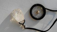 Weiteres - Schwarzes Traumfänger Lesezeichen mit Bergkristall - ein Designerstück von Traumnetz-com bei DaWanda