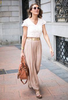 Sheer maxi skirt | Chicisimo