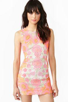 Cosmosis Floral Dress - NastyGal's version of a preppy pastel dress :)