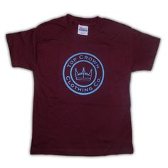 f31f658d1d8 Top Crown - Kids Original Classic Top Crown Clothing Co. and Crown Logo in  Burgundy T-shirt - Brand New - Toddler Kids and Girls Tee by  TopCrownClothing on ...
