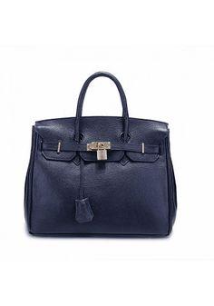 Medium Leather Bag Blue